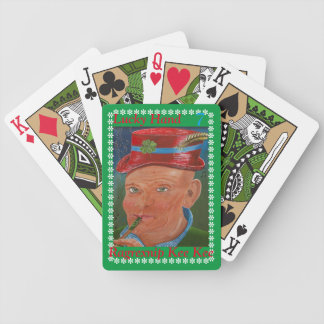 Green Bicycle Playing Cards