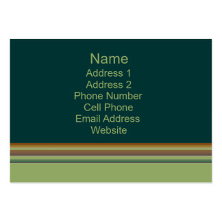 green biege business pack of chubby business cards