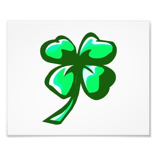 green big clover saint patties day.png photo print