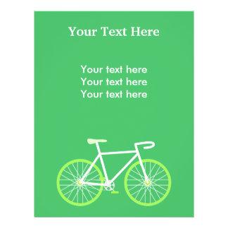 Green Bike 21.5 Cm X 28 Cm Flyer