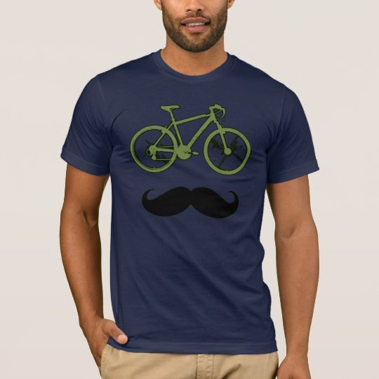 green bike and moustache T-Shirt