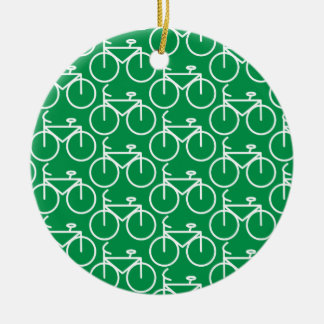 green bike christmas ornament