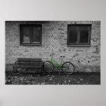 green bike photo print