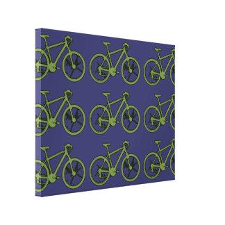 green bikes decor wall canvas print