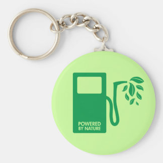 Green Biofuel Ethanol Basic Round Button Key Ring