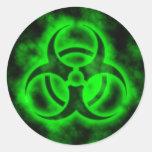 Green Biohazard Sticker