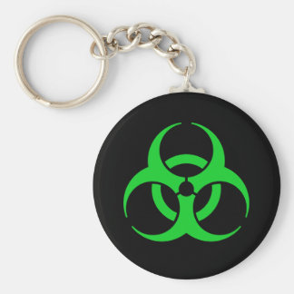 Green Biohazard Symbol Key Ring