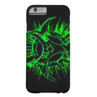 Green biohazard toxic fallout warning sign symbol barely there iPhone 6 case