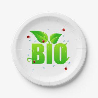 Green biologic organic natural paper plate