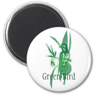 Green Bird Magnets