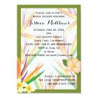Green Bird of Paradise Bridal Shower Wedding Card