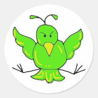 green bird stickers