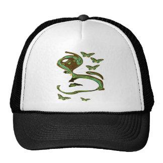Green Birdwing Modern Art Cap