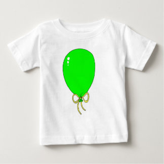 Green Birthday Balloon Design Baby T-Shirt