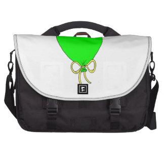 Green Birthday Balloon Design Laptop Commuter Bag