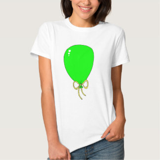 Green Birthday Balloon Design Tees
