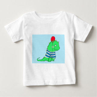 Green birthday Dinosaure with red balloon T Shirts
