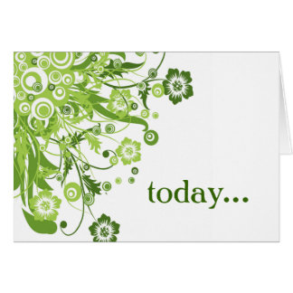Green Birthmothers' Day card