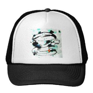 green black a tea cup trucker hat