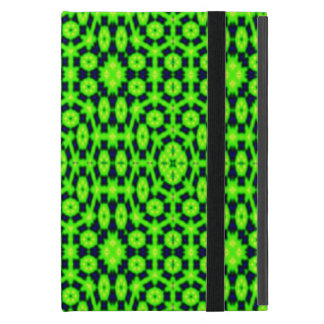 Green black abstract pattern case for iPad mini