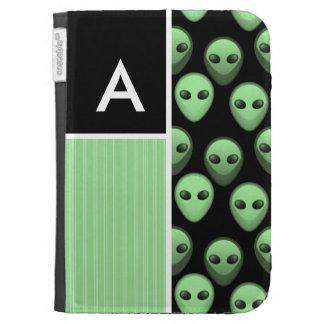 Green Black Alien Kindle Case