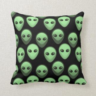 Green & Black Alien Pattern Cushion