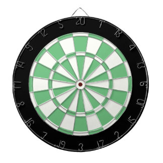 Green Black And White Dart Boards