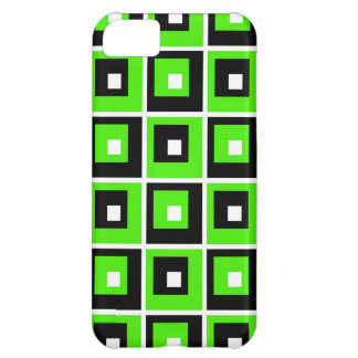 Green, Black  and White iPhone 5C Case