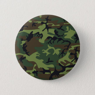 Green black brown camo camouflage military 6 cm round badge