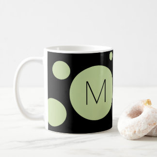 Green/Black Dot Custom Mug