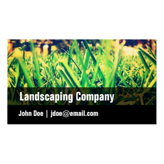 Green, Black, Grass, Landscaping Business Card
