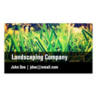 Green, Black, Grass, Landscaping Business Card