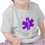 Green Black Grey Purple  Nurse EMS Star of Life Shirts