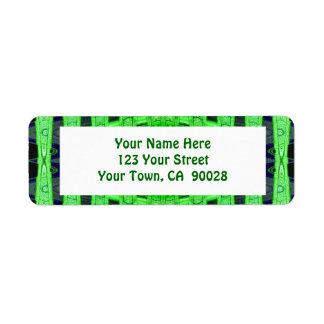 green black return address label
