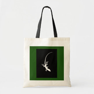 Green & Black Lizard Tote Bag