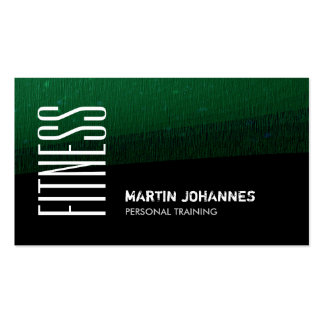 Green Black Pattern Personal Trainer Business Card