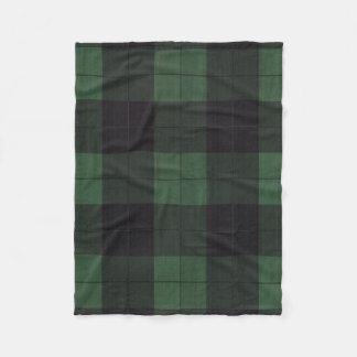 green black plaid fleece rustic country blanket