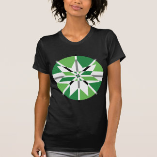 Green & Black Star Vector Design T-shirt
