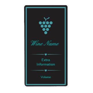Green Black Wine Label Shipping Label