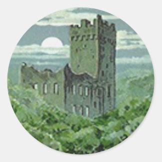 Green Blarney Castle Ireland Round Sticker