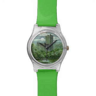 Green Blarney Castle Ireland Shamrock Wrist Watch