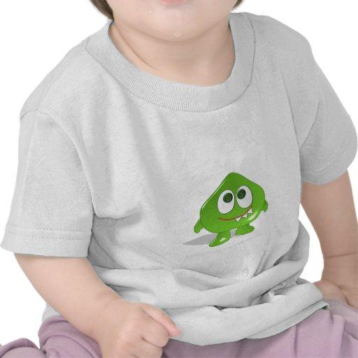 Green Blob Monster Tee Shirts