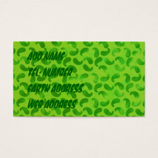 Green Blobs on Lime Green Business Card