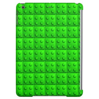 Green blocks pattern iPad air case