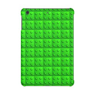 Green blocks pattern iPad mini case