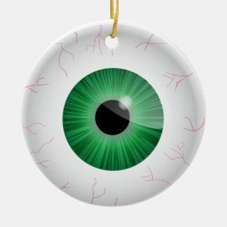Green Bloodshot Eyeball Ornament