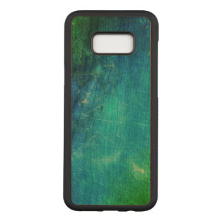 Green Blue Abstract Carved Samsung Galaxy S8+ Case