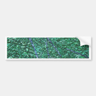 Green Blue Abstract Design Element Bumper Sticker