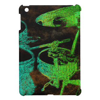 Green Blue Abstract Drums iPad Mini Covers