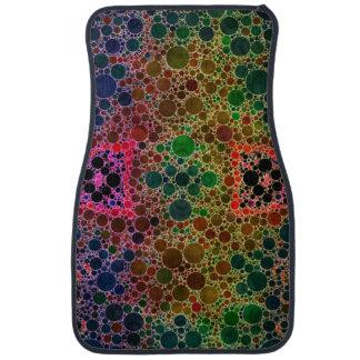 Green Blue Abstract Floor Mat